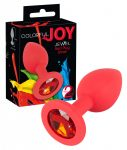 Colorful JOY - szilikon anál dildó - kicsi (piros)