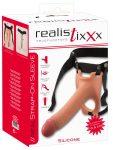 Realistixxx Strap-on - felcsatolható, üreges, élethű dildó (natúr)