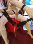 Cottelli String arany láncos fekete csipke csipketanga (S-L)
