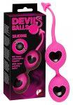 Devils Balls - gésagolyó duó (pink-fekete)