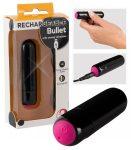 Bullet - akkus mini rúd vibrátor (fekete-pink)