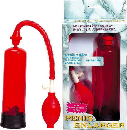 Piros színű péniszpumpa