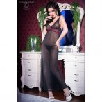 CR 4215 L Black/Pink Longgown+String