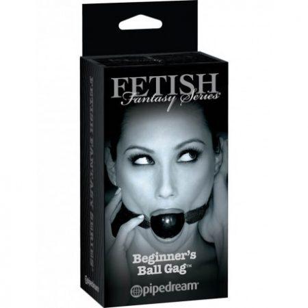 Fetish Fantasy Beginner's Ball Gag - fekete szájlabda
