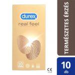 Durex Real Feel - latexmentes óvszer (10db)
