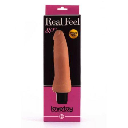 Real Feel cyberskin vibrátor 3 - 20cm