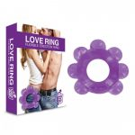Love Ring - puha gömbös péniszgyűrű (lila)