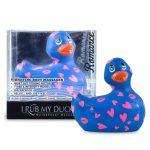 My Duckie Romance 2.0 - szíves kacsa vízálló csiklóvibrátor (kék-pink)
