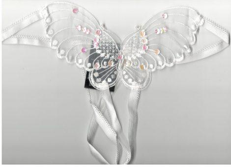Leg Avenue pillangó mintás fehér tanga